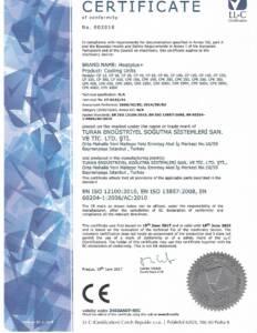 CE sertifikası Soğutma